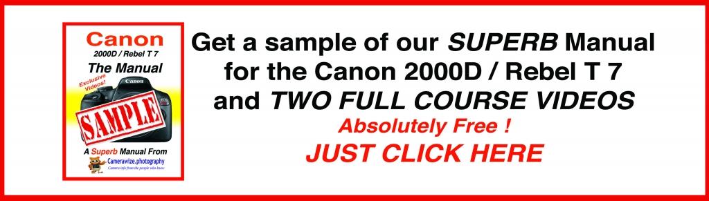 Canon rebel 2000D sample ad