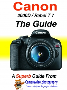 Canon 2000D Rebel T7 guide cover