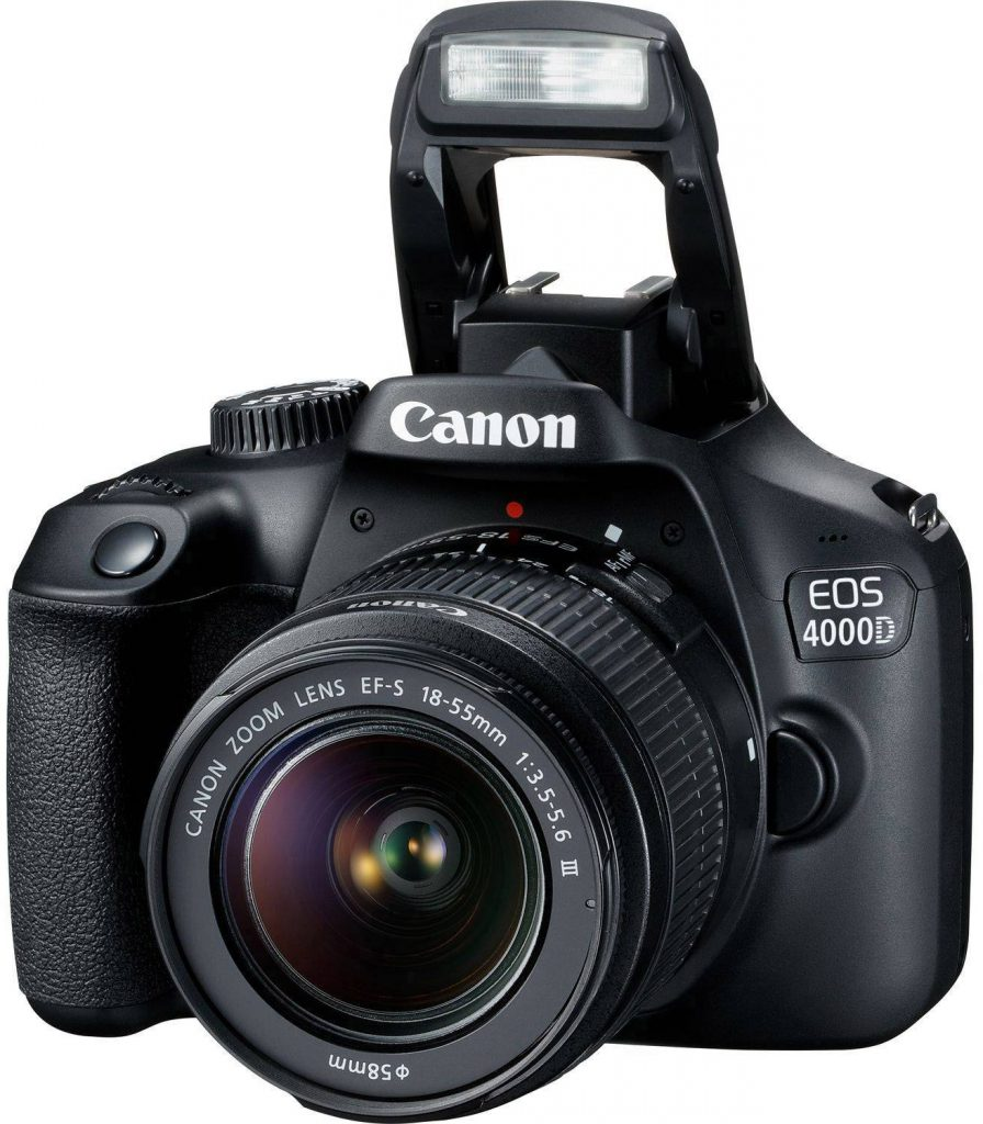 Canon EOS 4000D DSLR camera flash